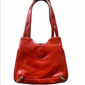 Lou Taylor Vintage Leather Handbag - Vanity Mirror